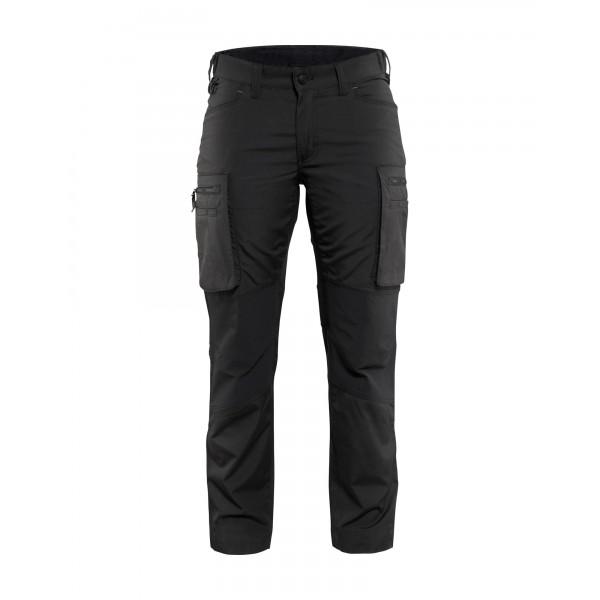 Duurzame zwarte of blauwe werkbroek met stretch vo...