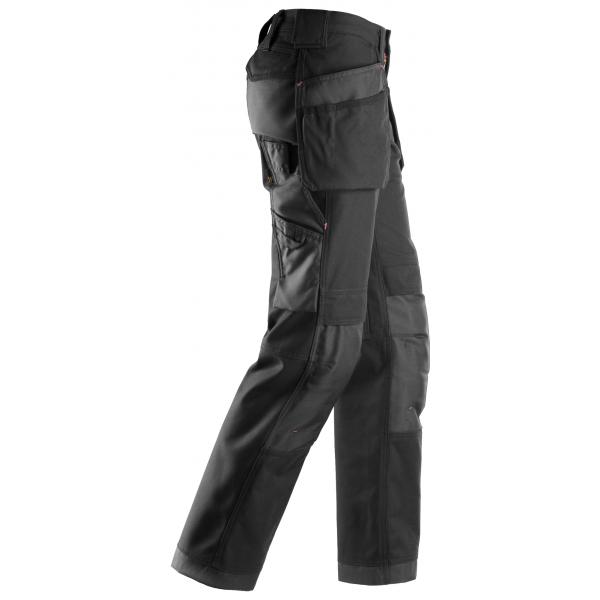 Zwarte lange werkbroek met broekzakken voor vrouwen - Snickers WorkWear