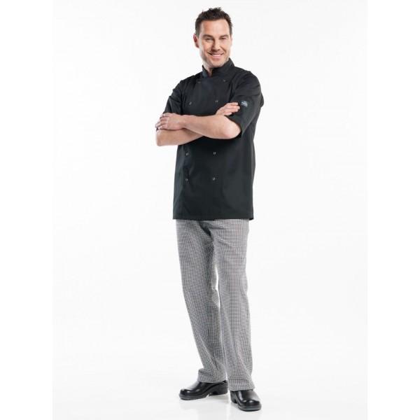 Chef jacket hilton poco wit of zwart short sleeve
