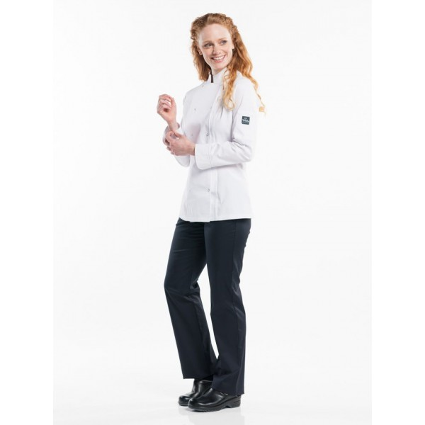 Chef jacket lady poco wit of zwart