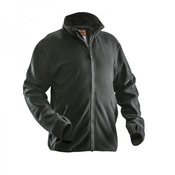 Zwarte lekker warme fleece jas met ruime zakken
