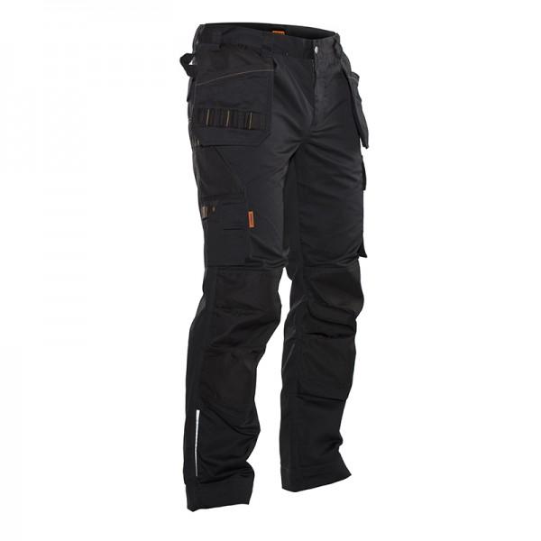 Lange zwarte werkbroek voor bouw - Jobman Workwear