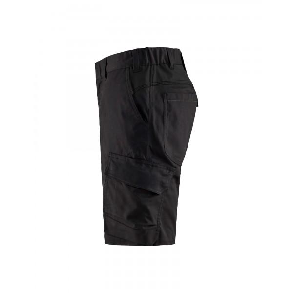 Zwarte krasvrije werkshort - korte werkbroek met stretch en enorm draagcomfort - BLÅKLÄDER