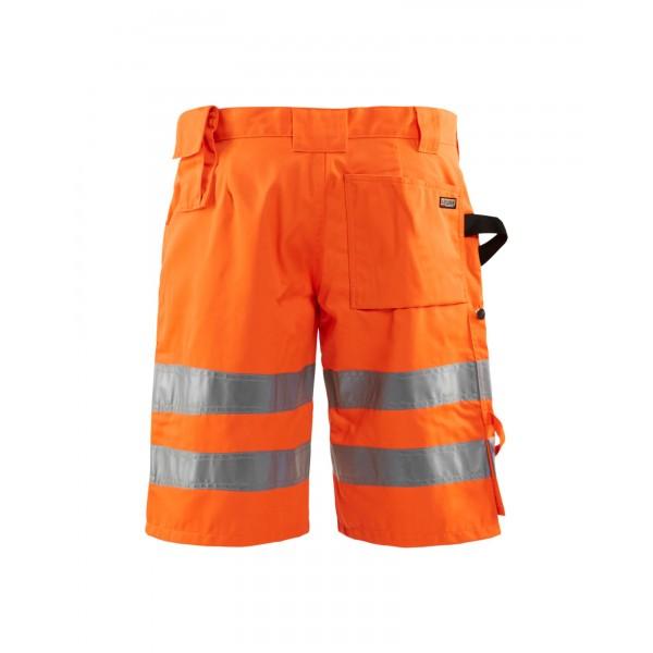 Oranje fluo reflecterende werkshort - hoge visibil...