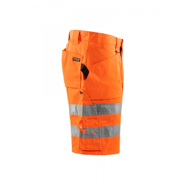 Oranje fluo reflecterende werkshort - hoge visibiliteit - BLÅKLÄDER