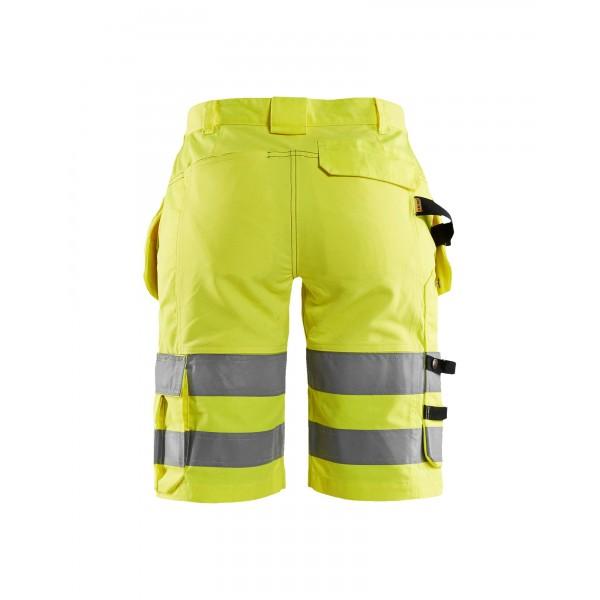 Flexible fluo gele werkshort - korte werkbroek met...