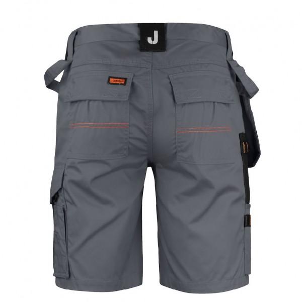 Zwarte of grijze korte werkbroek of werkshort voor mannen van Jobman Workwear