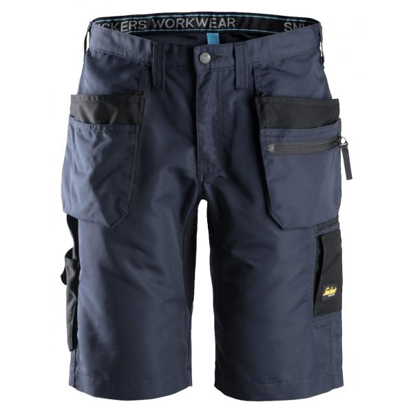 Super lichtgewicht korte zwarte of blauwe werkbroek voor mannen met stevige broekzakken