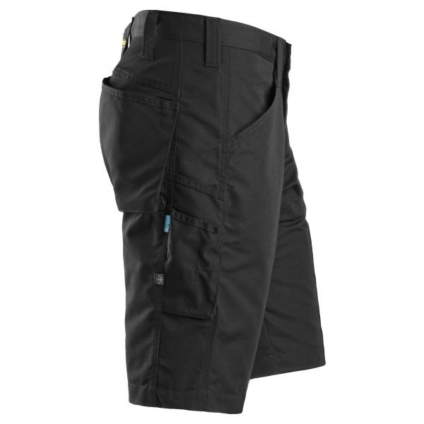Zwarte blauwe of khaki korte lichte werkbroek of werkshort met maximale ventilatie- Snickers Workwear